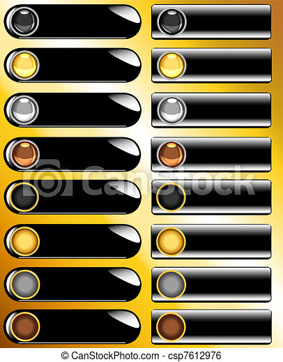 Collection of black web buttons - csp7612976