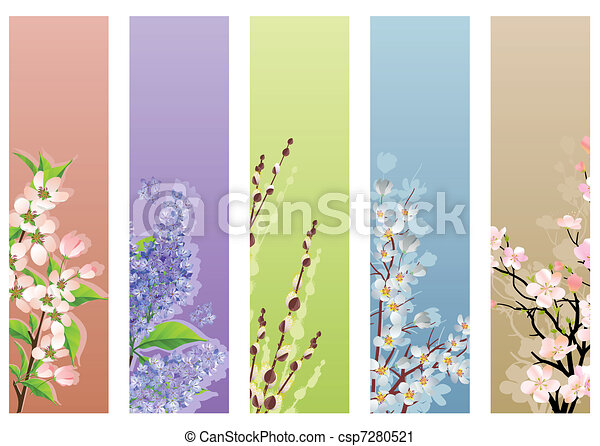 Collection of blossoming branches - csp7280521