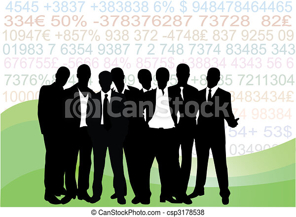 Collection of business people - csp3178538