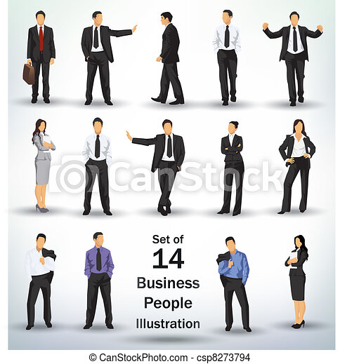 Collection of business people - csp8273794