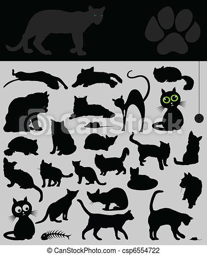 Collection of cats - csp6554722