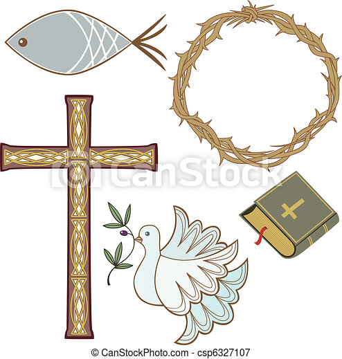 Collection of christian symbols - csp6327107
