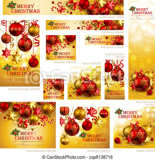 Collection of Christmas banners - csp8138716