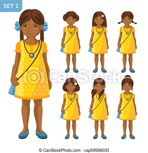 Collection Of Cute African Little Girls With Different Hairstyles