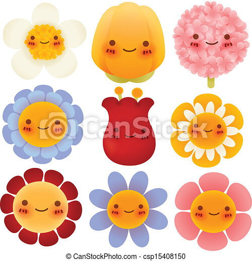 collection of cute flowers vector file eps10 clipart vector rh canstockphoto com cute flower clipart wallpaper cute flower clipart png