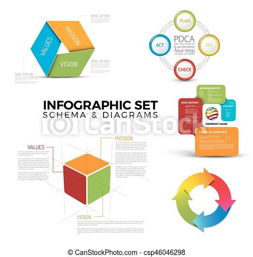 Collection of diagram schema templates for your infographics eps collection of diagram schema templates csp46046298 ccuart Images