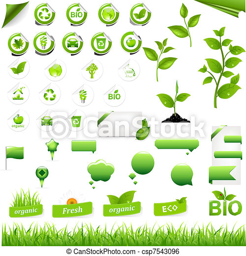 Collection Of Eco Elements - csp7543096