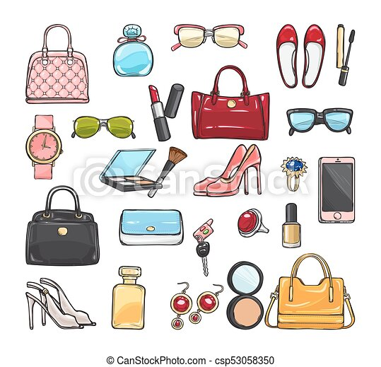 e08c9428cc0 Collection of Fashion Accessories. Women Things