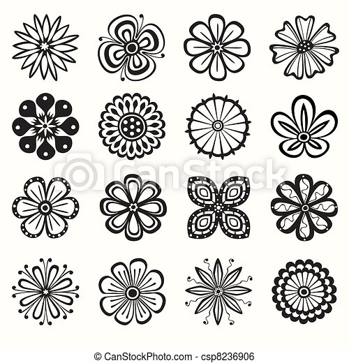 Collection of flowers - csp8236906