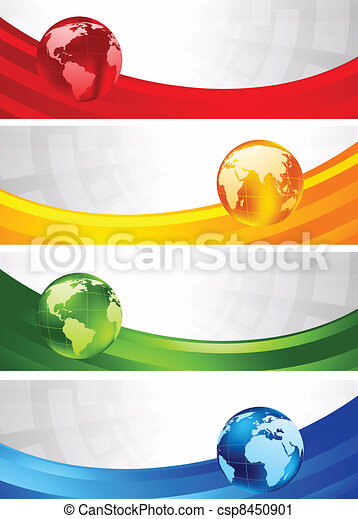 Collection of four banners - csp8450901