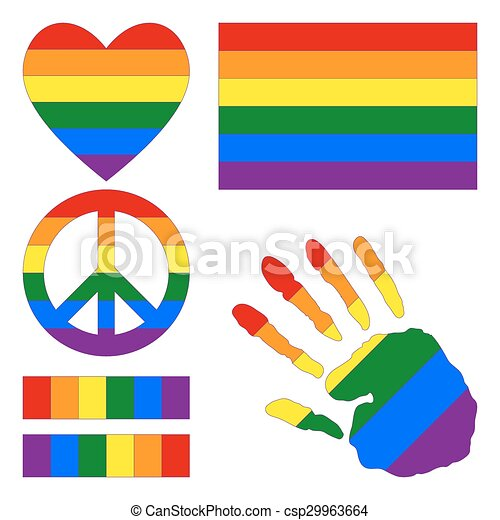 six color rainbow gay pride flag heart pacific sign clip art rh canstockphoto com gay clipart gay clipart