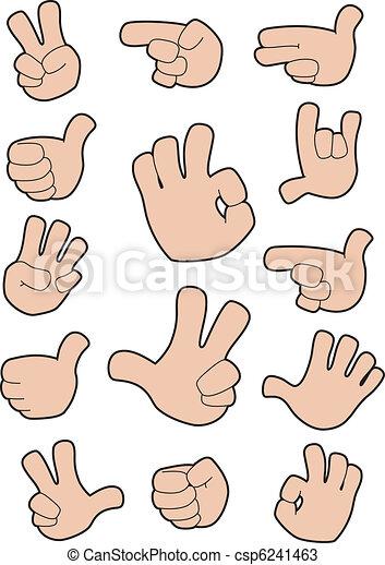 collection of gestures - csp6241463