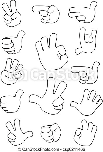 collection of gestures outlined - csp6241466