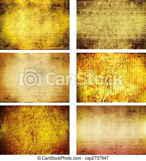 collection of grunge background textures - csp2737947