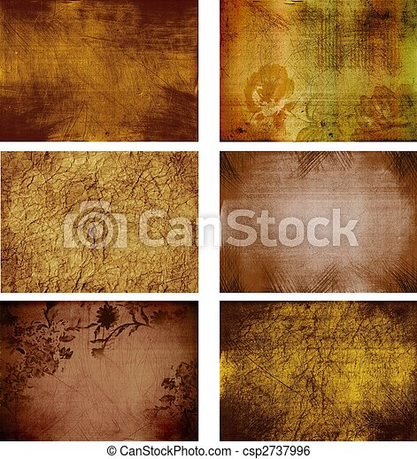 collection of grunge background textures - csp2737996