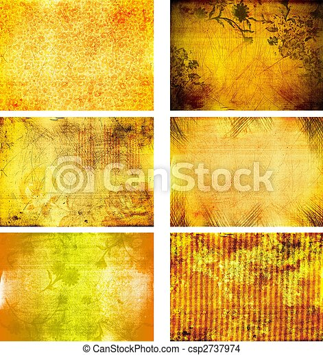 collection of grunge background textures - csp2737974