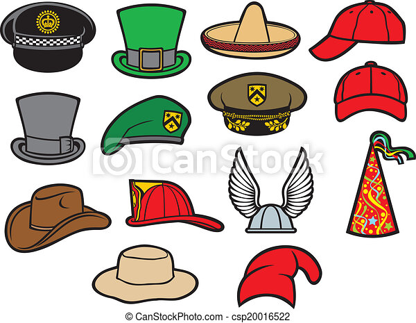 collection of hats - csp20016522