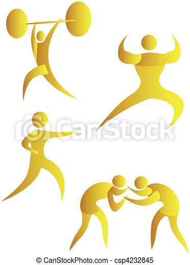 collection of human motifs doing different sports - csp4232845