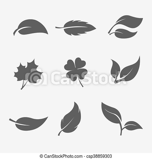 collection of images  the leaves  trees and plants - csp38859303