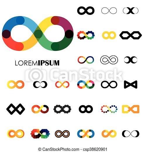 Collection Of Infinity Symbols Vector Logo Icons