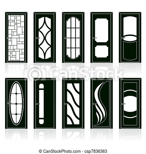 front door clipart black and white. Collection Of Interior Doors - Csp7836363 Front Door Clipart Black And White D