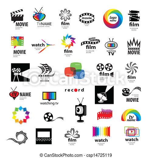 collection of logos tv, video, photo, film - csp14725119