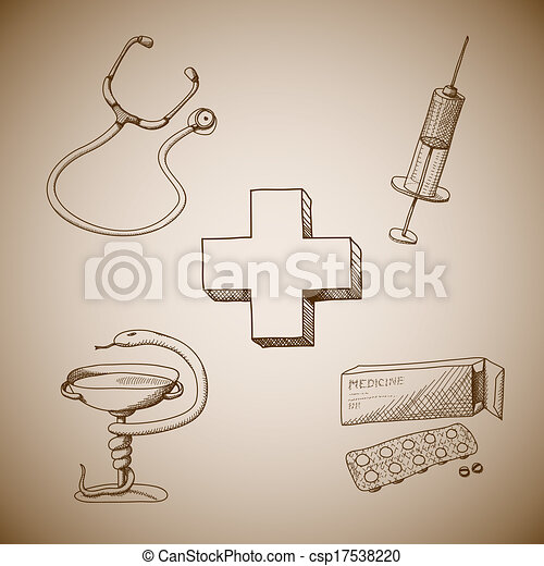 Collection of medical symbols - csp17538220