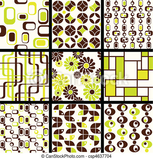 Collection of mod seamless patterns - csp4637704
