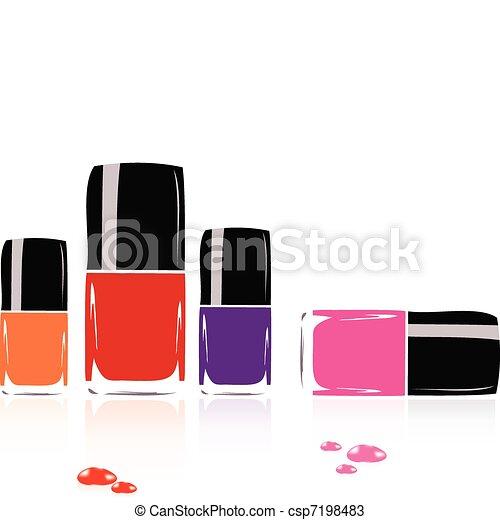 collection of nail polish - csp7198483