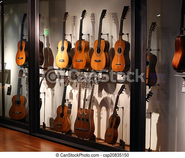 Collection of old guitars