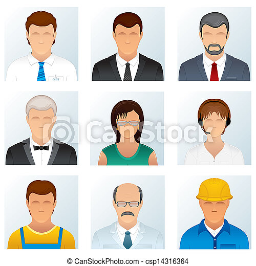 Collection of People Occupations Icons - csp14316364