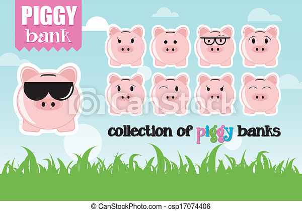 Collection of piggy banks - csp17074406