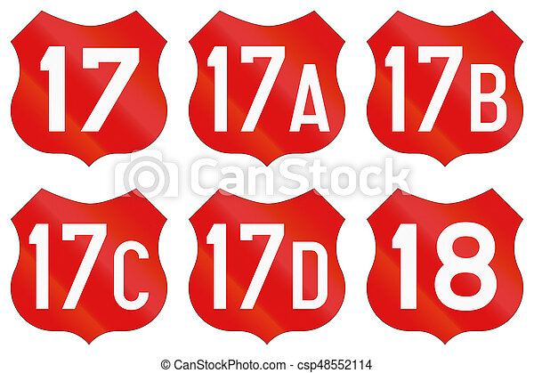 Collection of Road markings for National Roads in Romania - csp48552114
