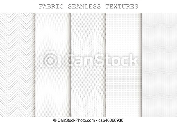 Collection Of Seamless Decorative Fabric Textures Vectors