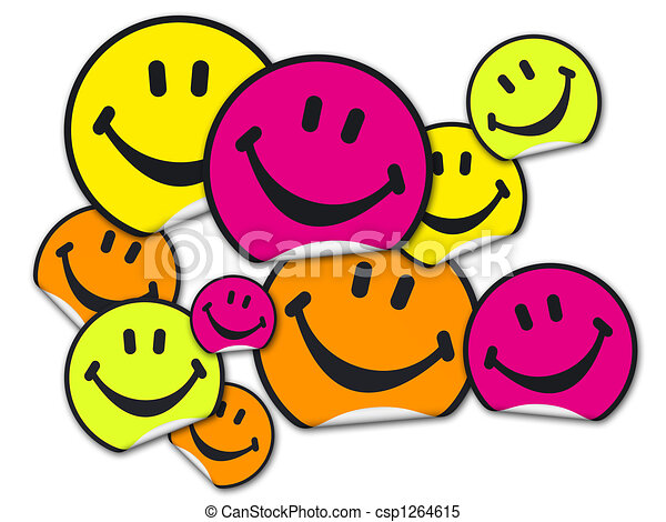 collection of smiley stickers a collection of yellow stock rh canstockphoto co uk stickers clipart travel stickers clipart
