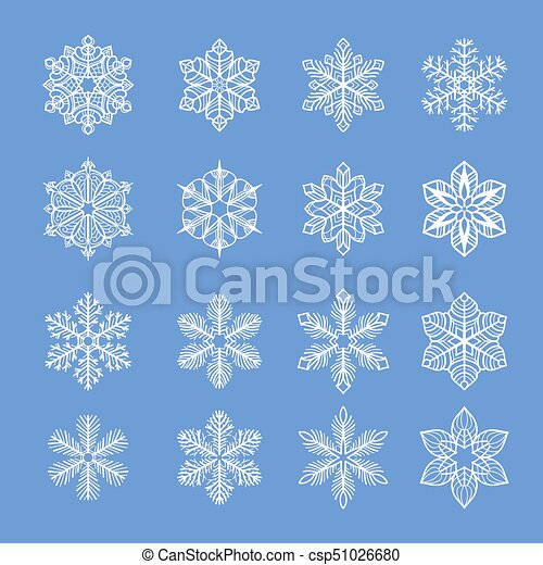 Collection of snowflakes - csp51026680