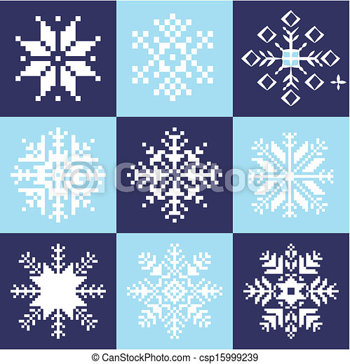 Collection of snowflakes - csp15999239