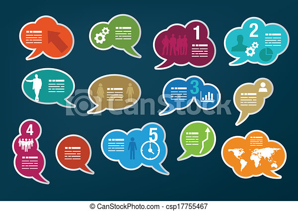 Collection of speech bubbles - csp17755467