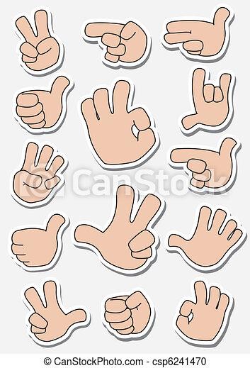 collection of sticker gestures - csp6241470