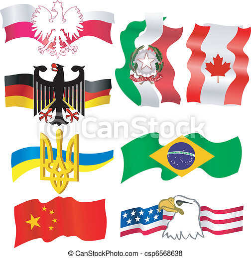 collection of symbols of countries - csp6568638