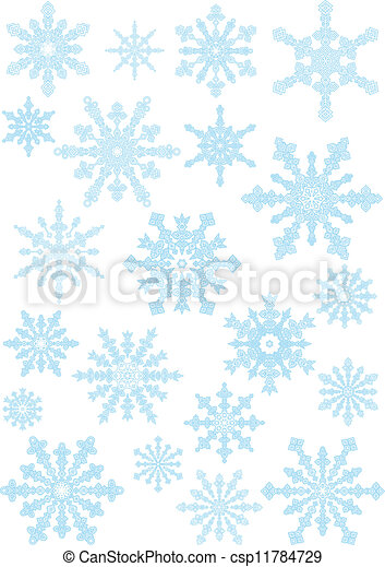 collection of the snowflakes - csp11784729