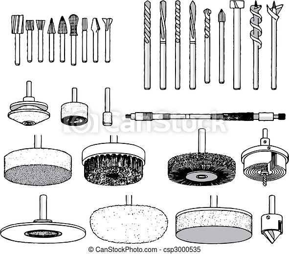 Collection of tool vector illustration - csp3000535