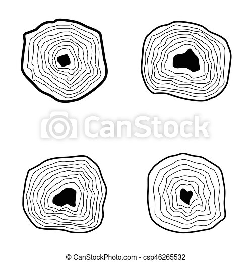 Collection of tree rings. - csp46265532