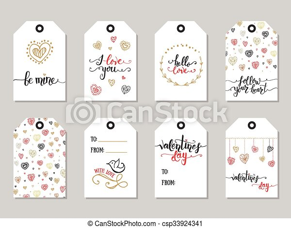 Collection Of Valentine S Day Cute Ready To Use Gift Tags