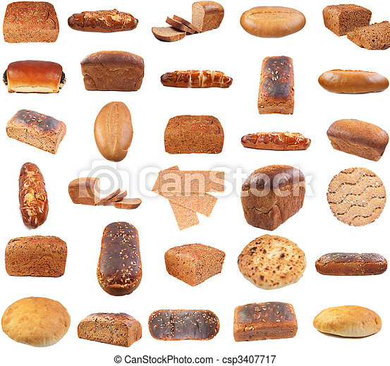 Collection of various bread - csp3407717