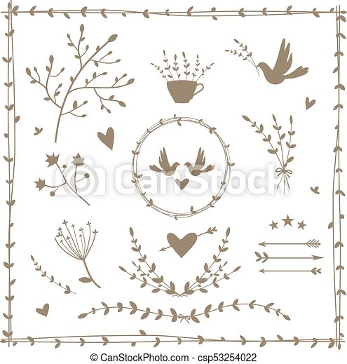Collection of vector design elements - csp53254022