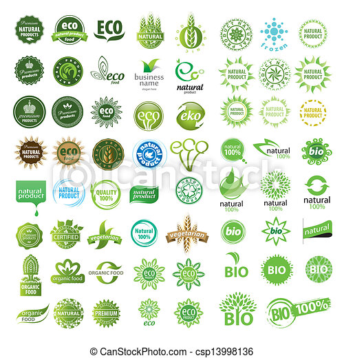 collection of vector eco sign - csp13998136