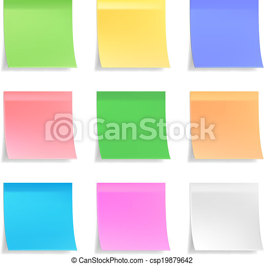 Collection of vector sticky notes - csp19879642