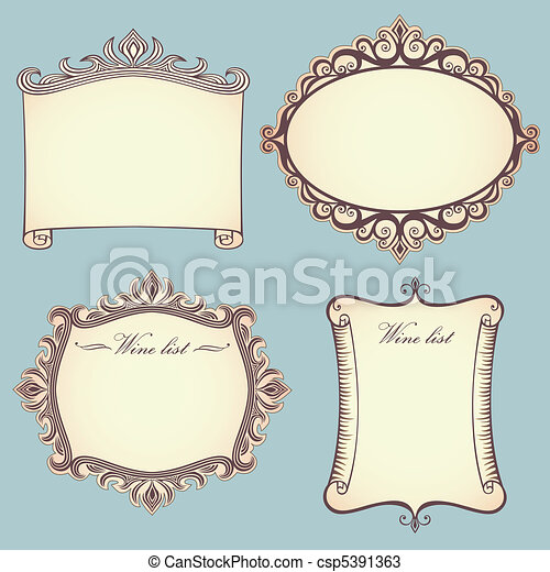 Collection of vintage frames - csp5391363