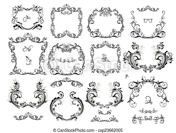 Collection of vintage frames - csp23662005